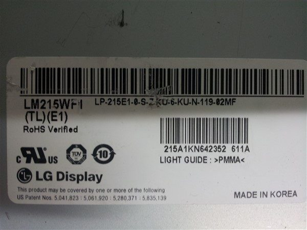 LM215WF1 (TL) (E1) Display