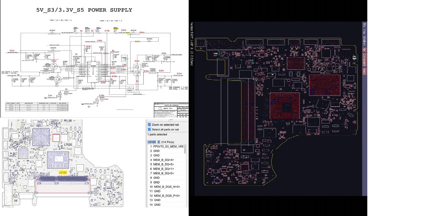 Schema Elettrico Zip : Macbook a  schema elettrico boardview c a t elettronica